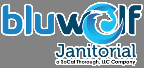 The Bluwolf Janitorial logo