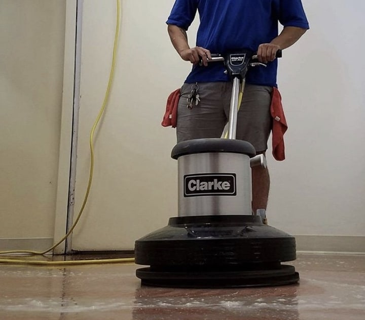 Bluwolf Janitorial provides floor care service in Los Angeles